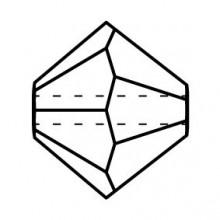 Bicone Crystal Bead 6mm Amethyst Opal