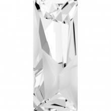 Kaputt Baguette Fancy Stone partly frosted 29x11.5mm Crystal F