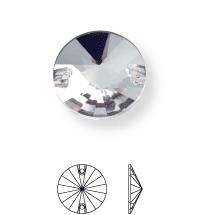 Rivoli sew-on stone flat 2 hole 10mm Sapphire F