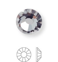 Rose Hotfix Rhinestone ss20 Crystal HF