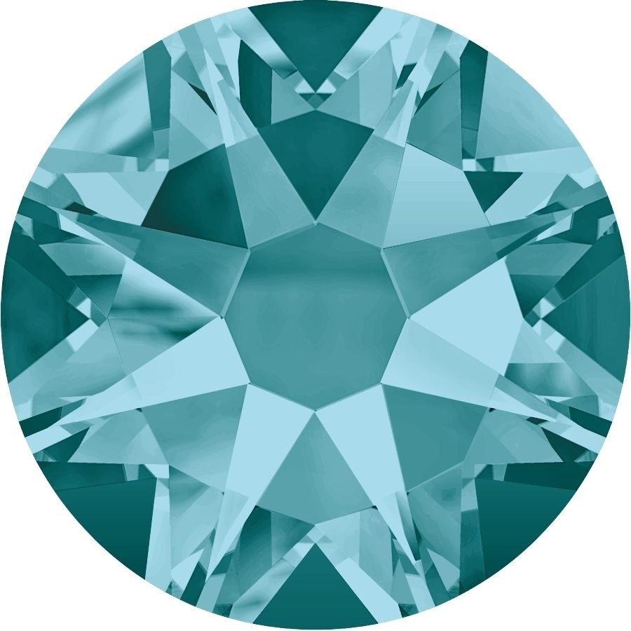 Xirius Rose Rhinestone ss34 Blue Zircon F