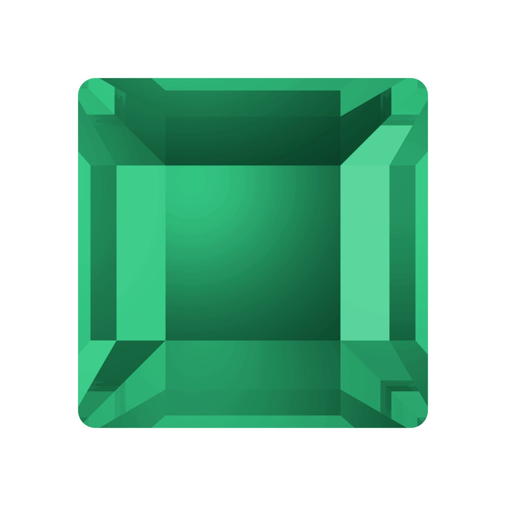 Square Hotfix Rhinestone 4mm Emerald HF