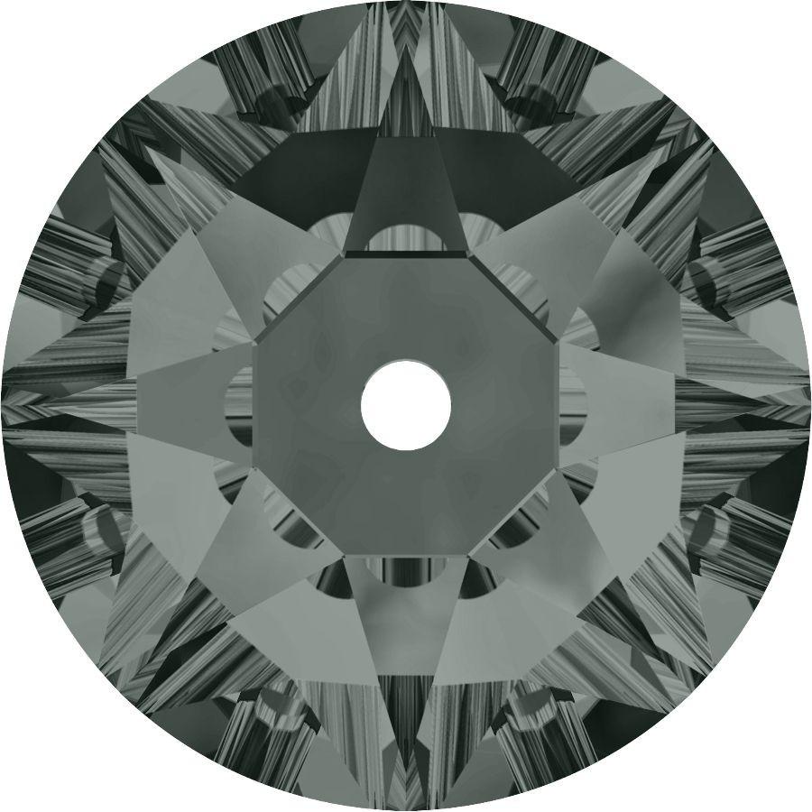 Xirius Lochrose sew-on stone 1 hole 5mm Black Diamond F