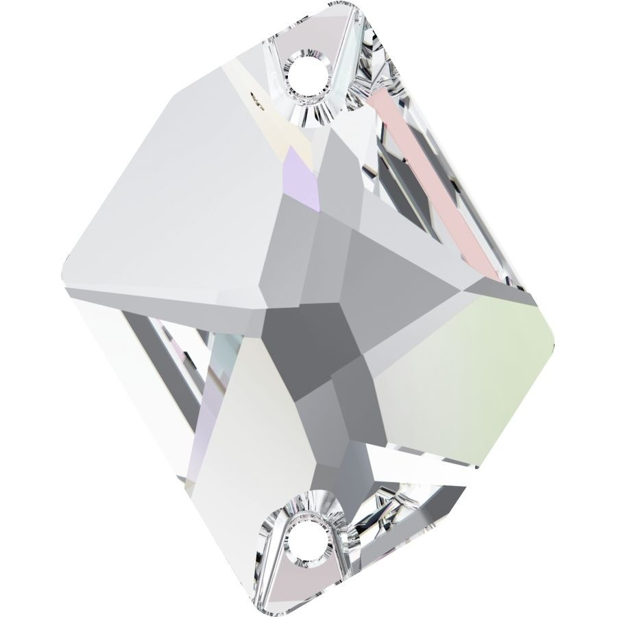 Cosmic sew-on stone 2 hole 26x21mm Crystal AB F