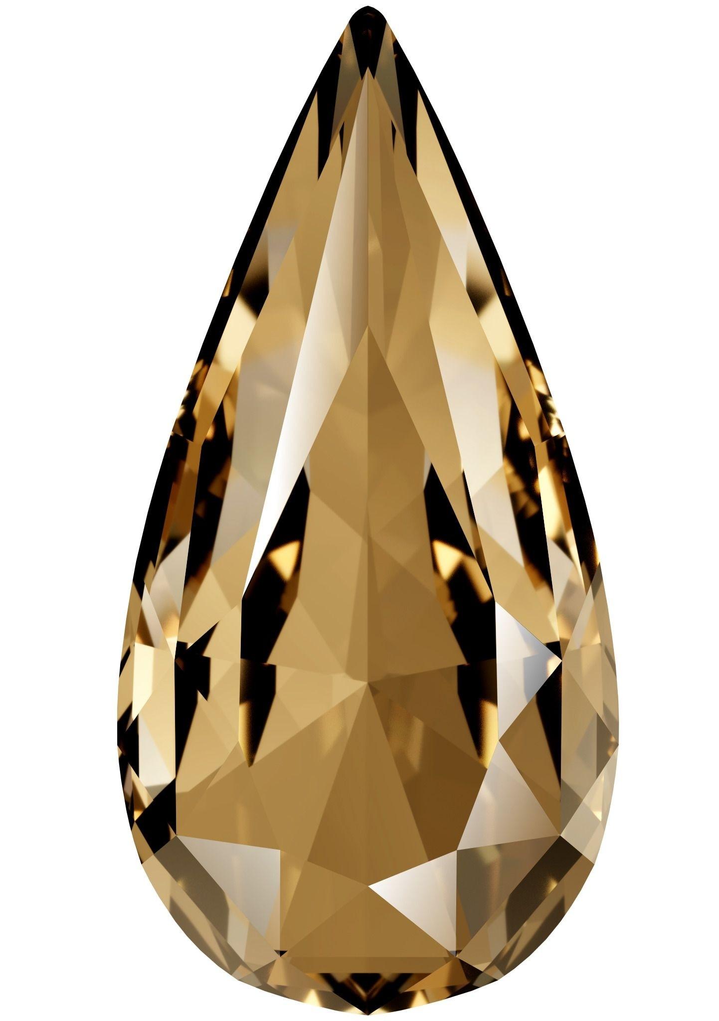 Teardrop Fancy Stone 22x11mm Crystal Golden Shadow F