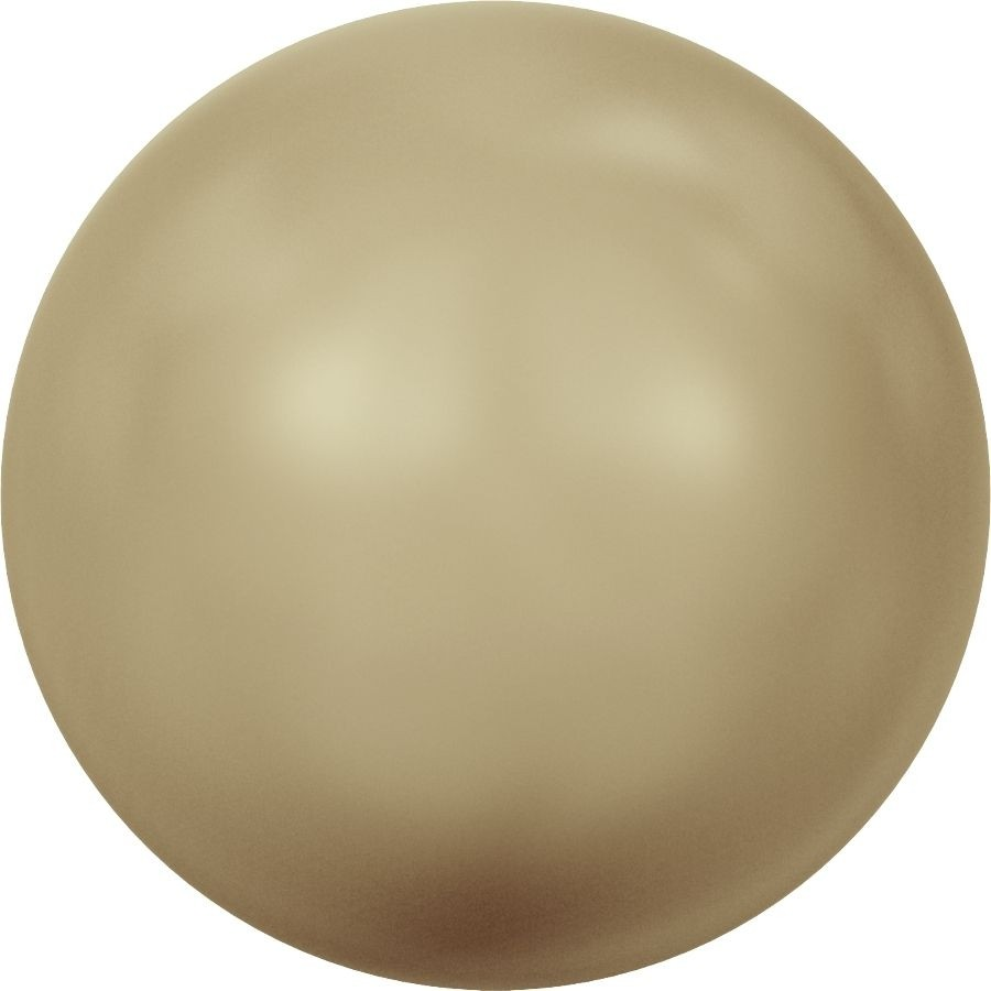 Crystal Round Pearl 4mm Crystal Vintage Gold Pearl