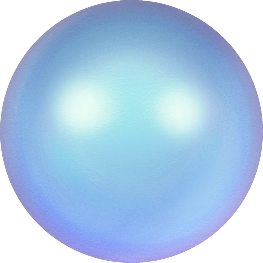 Crystal Round Pearl 6mm Crystal Iridescent Light Blue Pearl