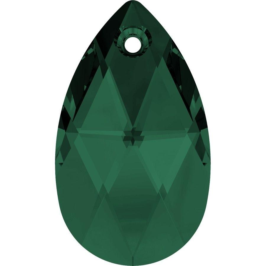 Pear-shaped Pendant 28mm Emerald