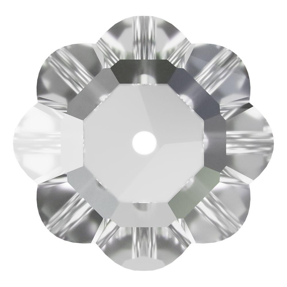 Flower sew-on stone 1 hole 10mm Crystal F