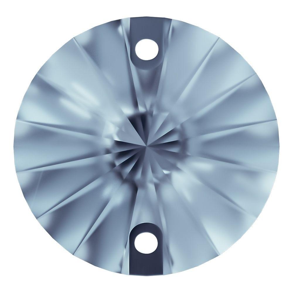 Rivoli sew-on stone flat 2 hole 10mm Light Sapphire F