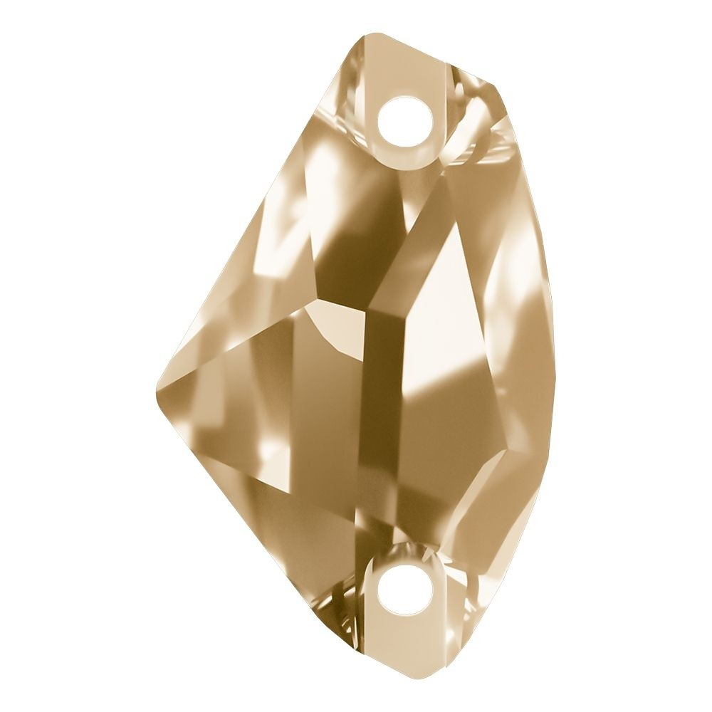 Galactic sew-on stone flat 2 hole 19x12mm Crystal Golden Shadow F