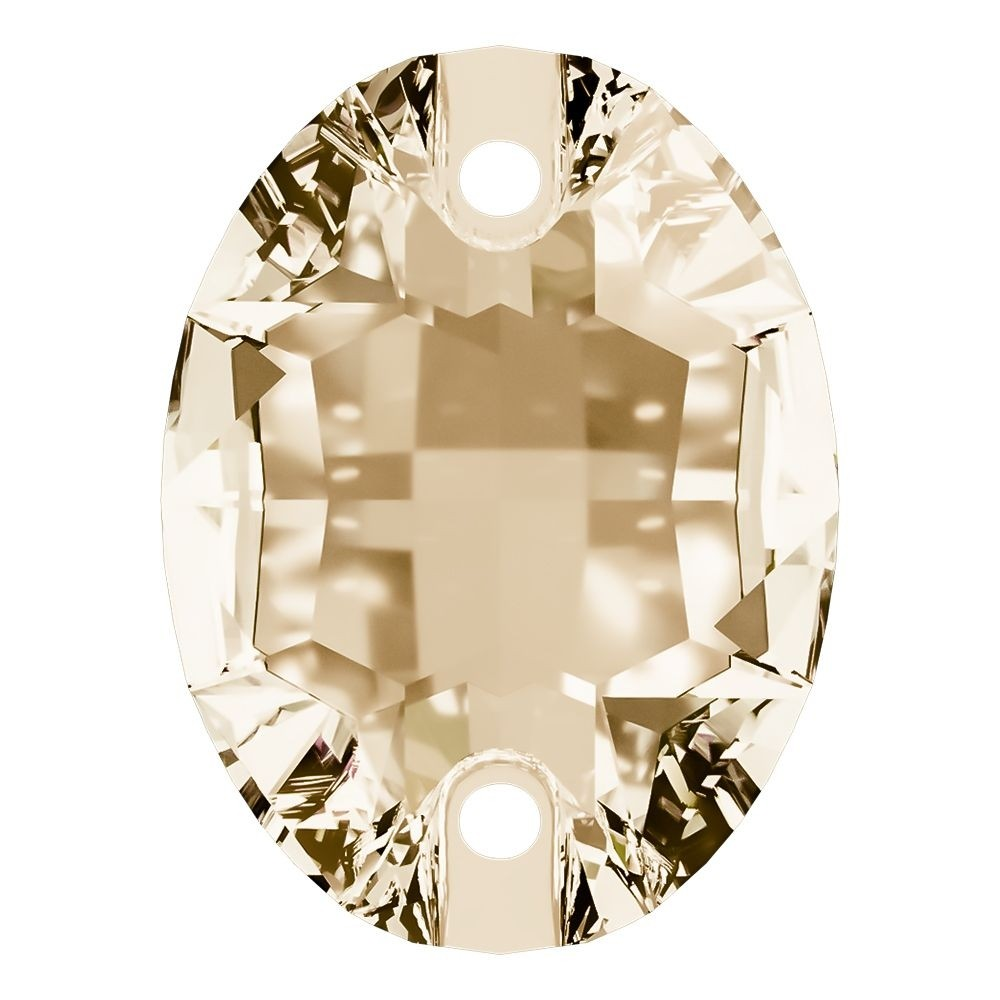 Oval sew-on stone flat 2 hole 24x17mm Crystal Golden Shadow F