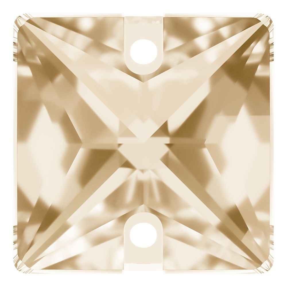 Square sew-on stone flat 2 hole 22mm Crystal Golden Shadow F