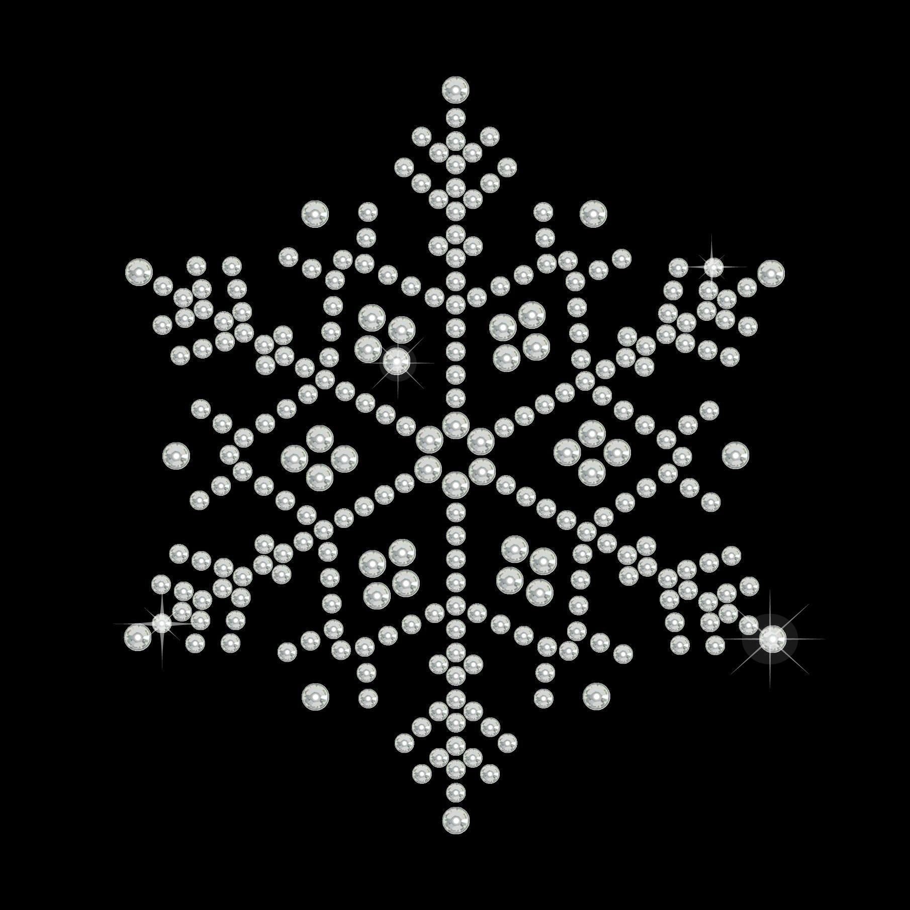 "Hotfix Rhinestone Transfer ""Snowflake"" 76x66mm"