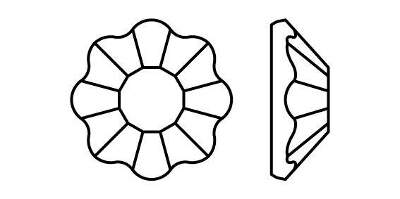 Flower Hotfix Rhinestone ss16 Crystal HF