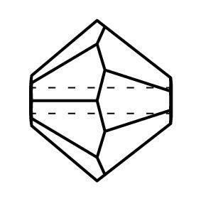 Bicone Crystal Bead 6mm Aqua Bohemica AB 2x